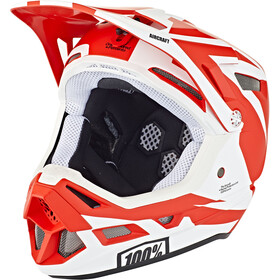 100% Aircraft DH Composite Casque, rapidbomb/red
